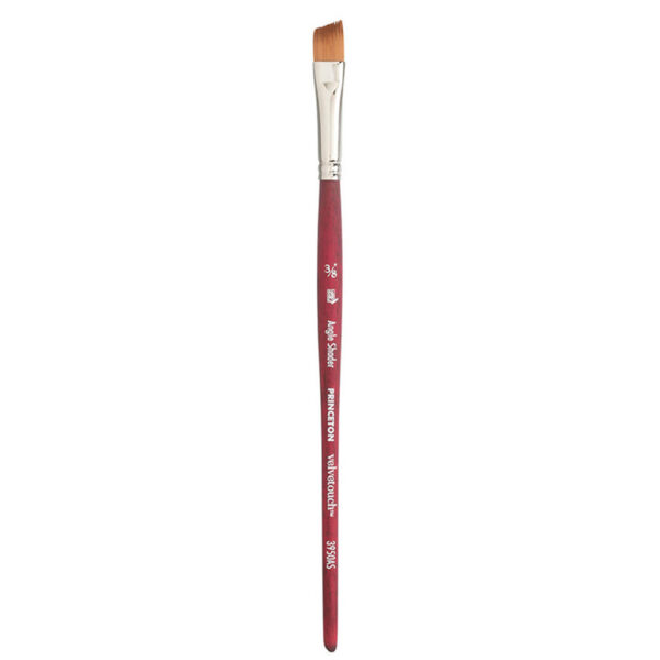 Princeton Velvetouch 3950 Series Brushes - Angle Shader Size 5/8 in