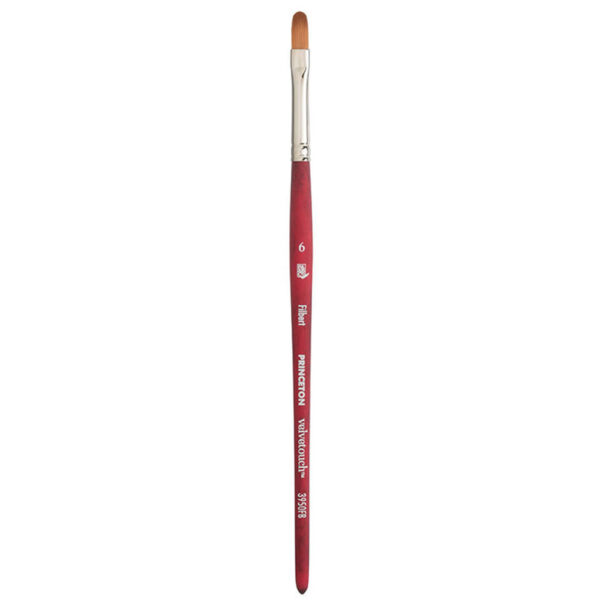Princeton Velvetouch 3950 Series Brushes - Filbert Size 8