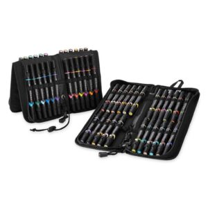 Prismacolor Premier Double-Ended Brush Marker Sets - Soft Case Set of 48