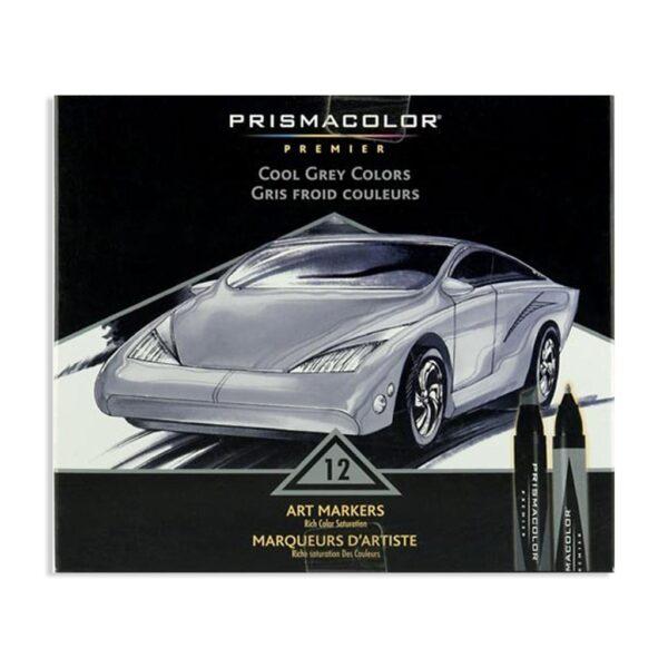 Prismacolor Premier Double-Ended Art Marker Sets - Cool Grays Set of 12