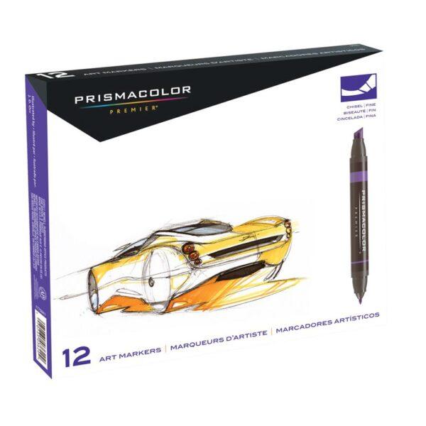 Prismacolor Premier Double-Ended Art Marker Sets - Primary Set of 12