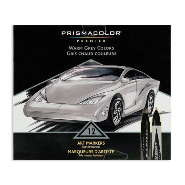Prismacolor Premier Double-Ended Art Marker Sets - Warm Grays Set of 12