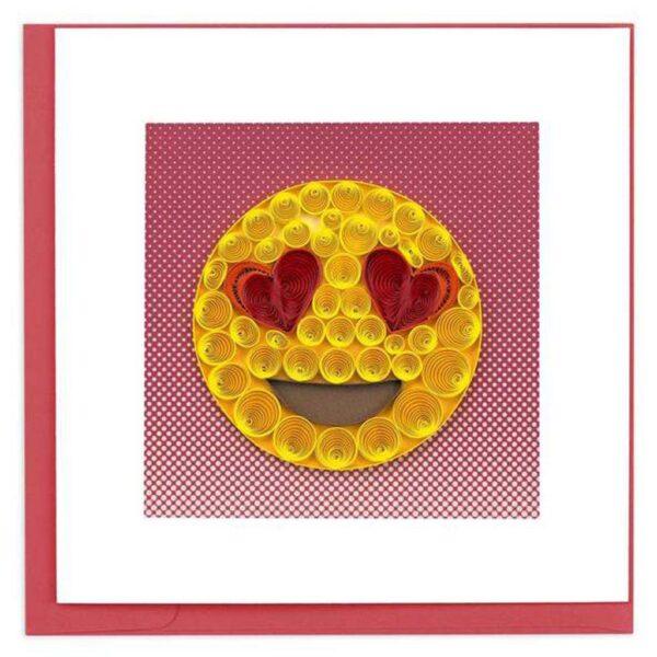 Quilled Love Emoji Card