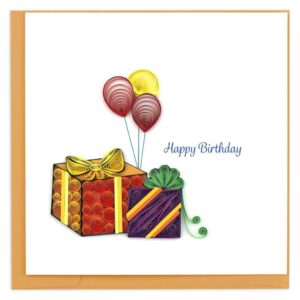 Quilled Gifts & Balloons Card