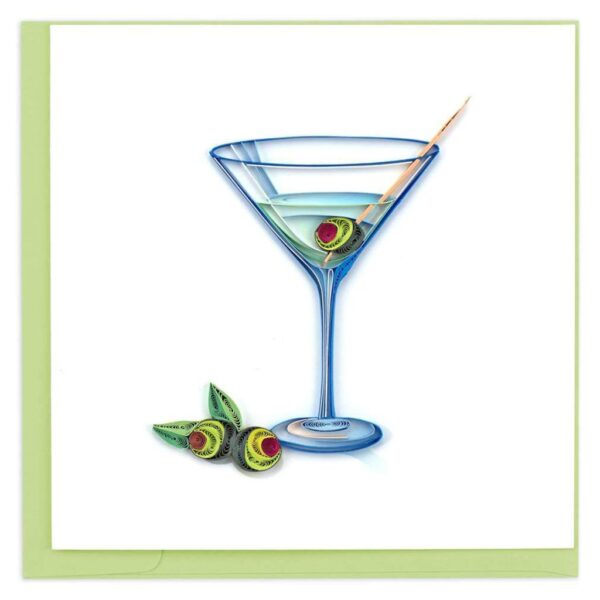 Quilled Gin Martini Card