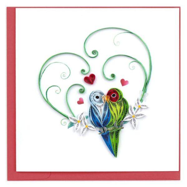 Quilled Love Birds Card