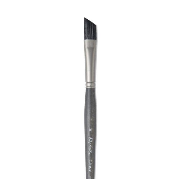 Raphael Softacryl Synthetic Bristle Brushes - Long Handle 8711 Angular Sz 20