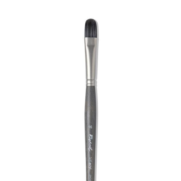 Raphael Softacryl Synthetic Bristle Brushes - Long Handle 8712 Filbert Sz 36