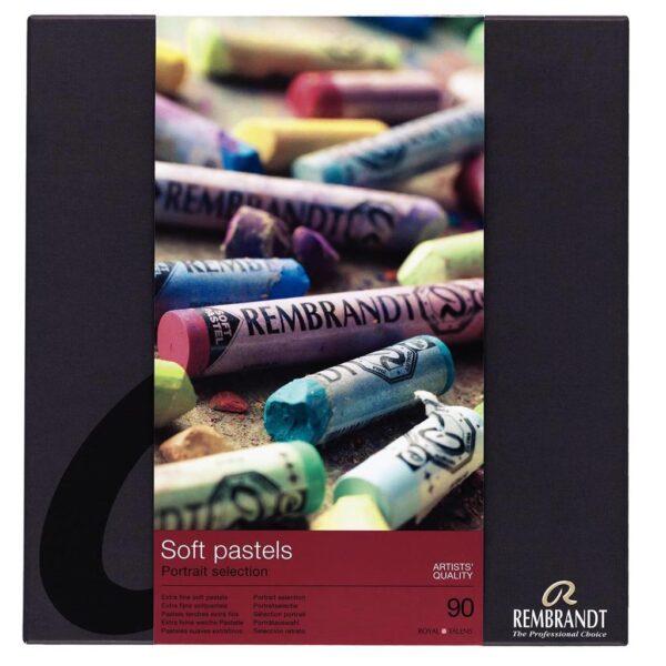 Rembrandt Soft Pastel Full Stick Sets - 300C90P Portrait Set of 90