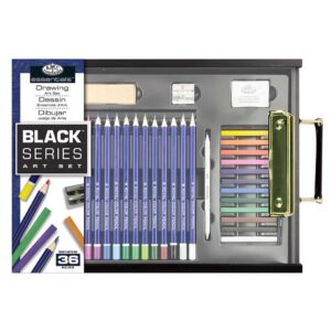 Royal Black Series Art Set Drawing 36pc