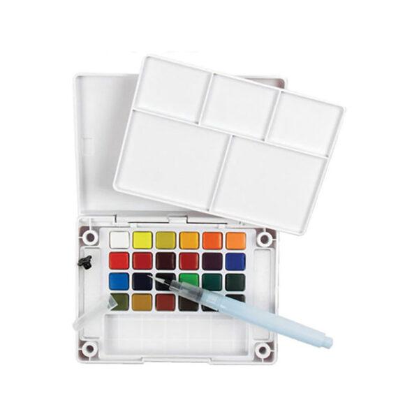 Sakura Koi Watercolor Pocket Field Sketchbox 24 Pan W/ Brush