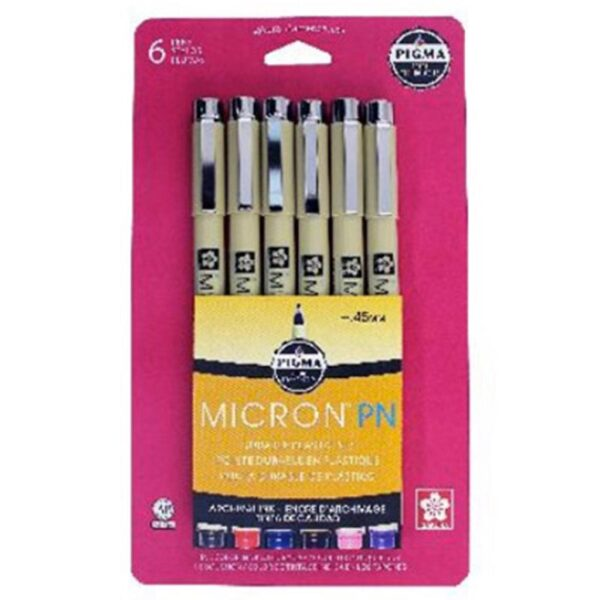 Sakura Pigma Micron PN Pen Sets - Set of 6