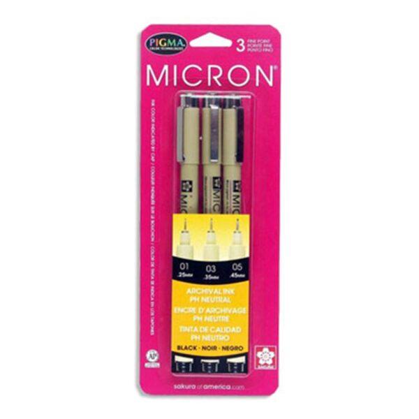 Sakura Pigma Micron Pen Sets - Assorted Set of 3