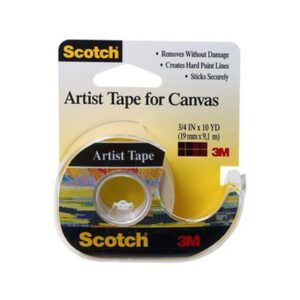 Scotch 2010 Artist Tape for Canvas 3/4 in W x 10YD L