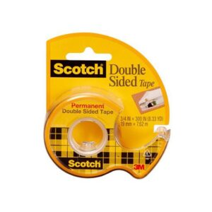 Scotch 136 Double Sided Tape Permanent 0.50in W x 250in L