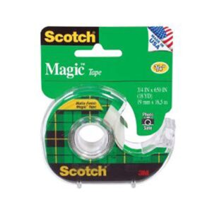 Scotch 122 Magic Tape 3/4 in W x 650in