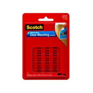 Scotch 108 Mounting Squares Removable 1 in W X 1 in L