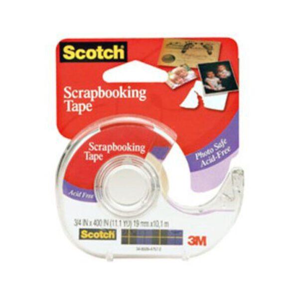 Scotch 001 Scrapbooking Tape Permanent 3/4 in W x 400in L
