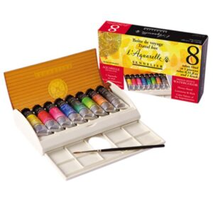 Sennelier Artists Watercolor Sets - Travel Clam Shell Box 8 x 10 ml