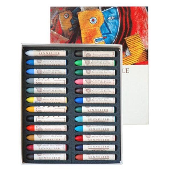 Sennelier Oil Pastel Sets - Assorted Set of 24