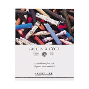 Sennelier Full Stick Soft Pastel Sets - Dark Set of 24