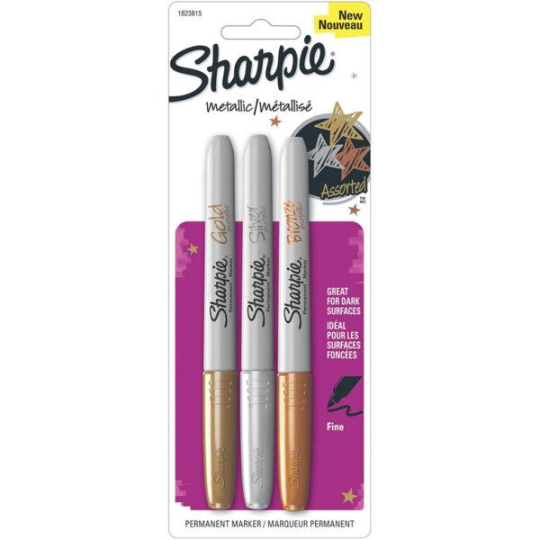 Sharpie Marker Sets - Metallic Fine Set of 3