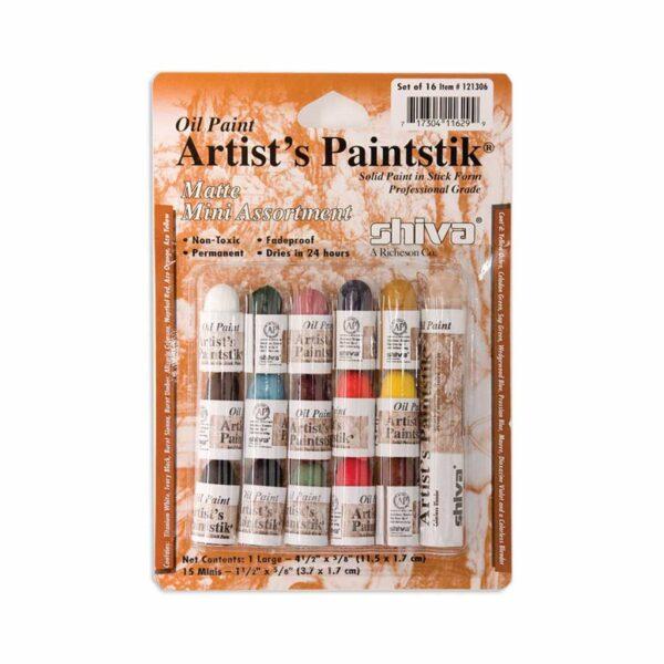 Richeson Shiva Artist Painstiks - Mini Matte Set of 16