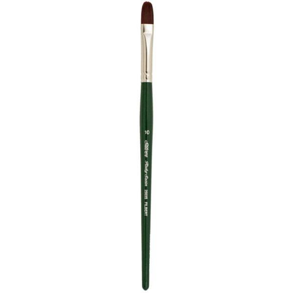 Silver Brush Ruby Satin Synthetic Brushes - Filbert Sz 10