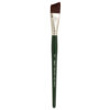 Silver Brush Ruby Satin Synthetic Brushes - Angle Shader Sz 3/4 in