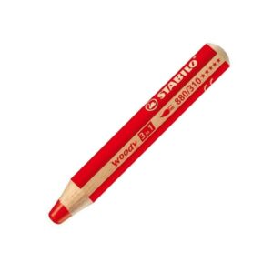 Stabilo Woody 3 in 1 Pencils - Red 310