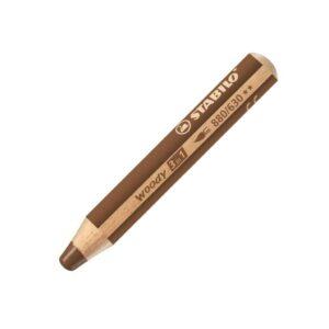 Stabilo Woody 3 in 1 Pencils - Brown 630