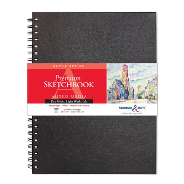 Stillman and Birn Alpha Premium Sketchbooks - Wirebound White 9 x 12in 150gsm (100lb)