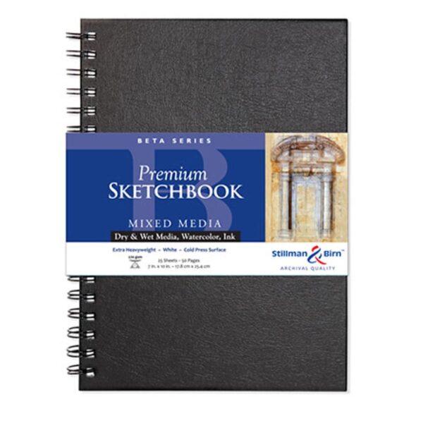 Stillman and Birn Beta Premium Sketchbooks - Wirebound White 7 x 10in 270gsm (180lb)