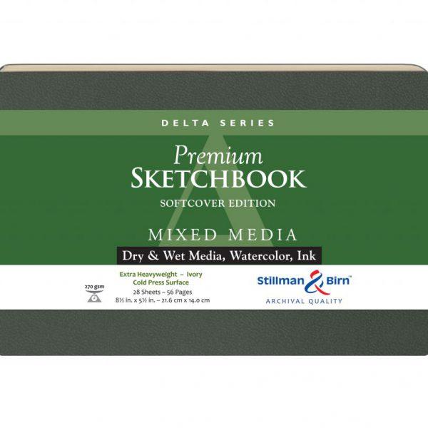 Stillman and Birn Delta Premium Sketchbooks - Softcover Ivory 5.5 x 8.5in 150gsm (100lb)