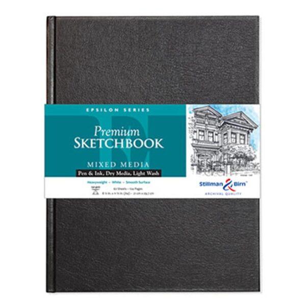 Stillman and Birn Epsilon Premium Sketchbooks - Hardcover White 8.25 x 11.75in 150gsm (100lb)