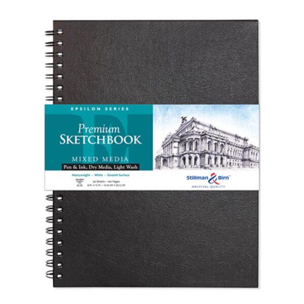 Stillman and Birn Epsilon Premium Sketchbooks - Wirebound White 9 x 12in 150gsm (100lb)