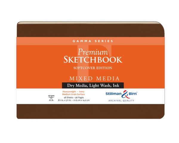 Stillman and Birn Gamma Premium Sketchbooks - Softcover Ivory 5.5 x 8.5in 150gsm (100lb)