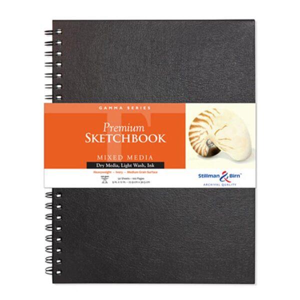 Stillman and Birn Gamma Premium Sketchbooks - Wirebound Ivory 9 x 12in 150gsm (100lb)