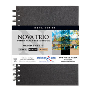Stillman and Birn Nova Trio Premium Sketchbooks - Wirebound Assorted 7 x 10in 150gsm (100lb)