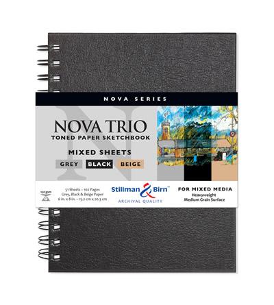 Stillman and Birn Nova Trio Premium Sketchbooks - Wirebound Assorted 7 x 10in 150gsm (100lb)