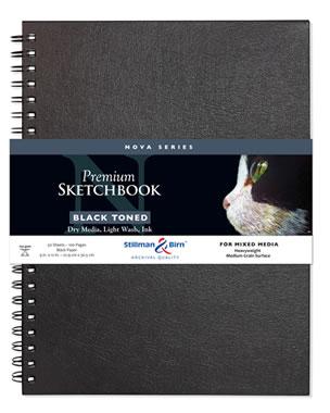 Stillman and Birn Nova Toned Paper Sketchbooks - Wirebound Gray 9 x 12in 150gsm (100lb)