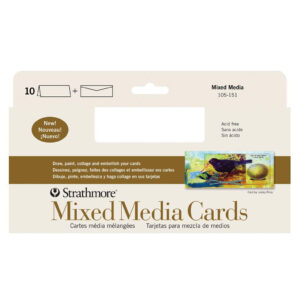 Strathmore Art Surface Greeing Cards - Mixed Media Pack of 10 4 x 9 in