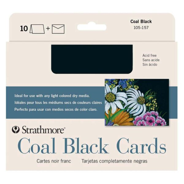 Strathmore Greeting Card Coal Black