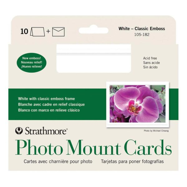 Strathmore Photo Cards - Classic Embossed Pack of 10 5 x 7 in