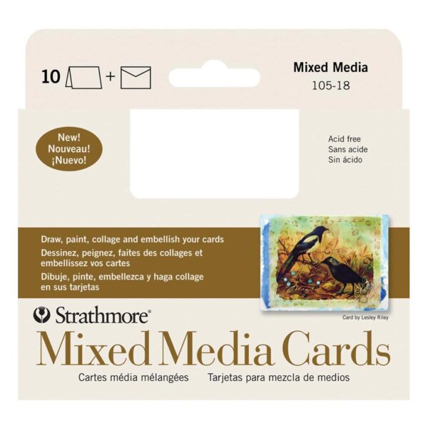 Strathmore Art Surface Greeing Cards - Mixed Media Pack of 10 3.5 x 5 in