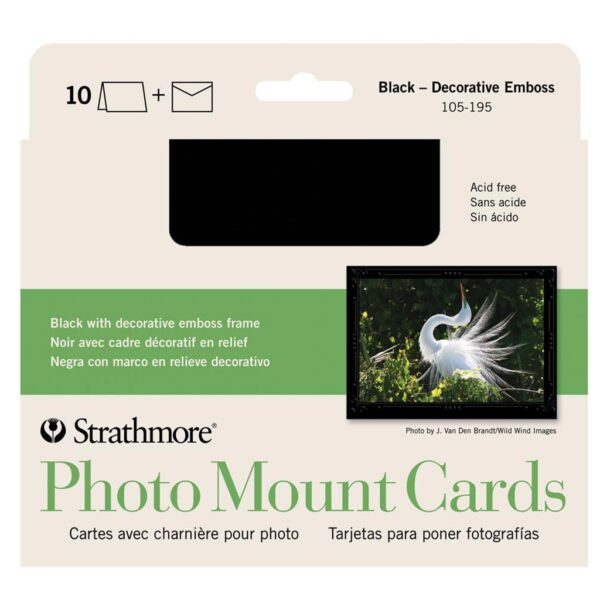 Strathmore Photo Cards - Decorative Embossed Pack of 10 5 x 7 in