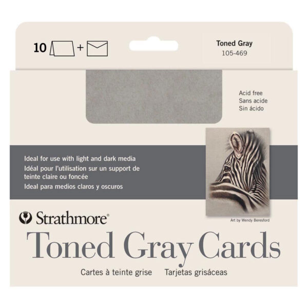 Strathmore Art Surface Greeing Cards - Toned Gray Pack of 10 5 x 7 in