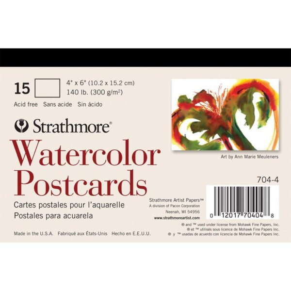 Strathmore Post Cards - Watercolor Pack of 15 5 x 7 in