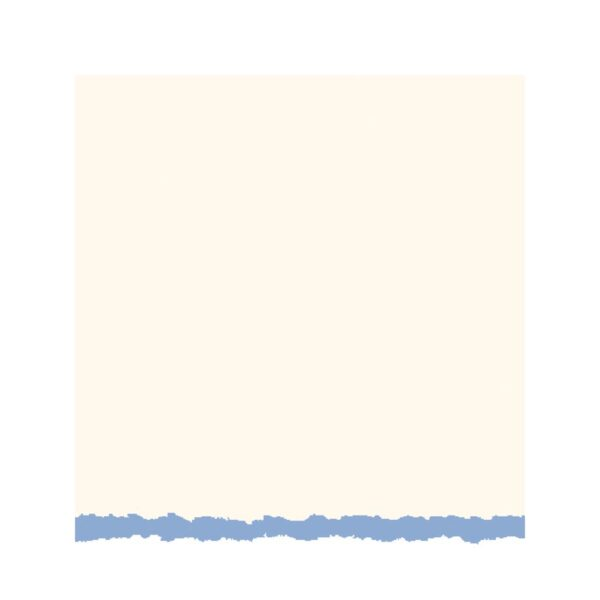 Strathmore Announcement Cards - White/Blue Deckle Pack of 10 3.5 x 5 in