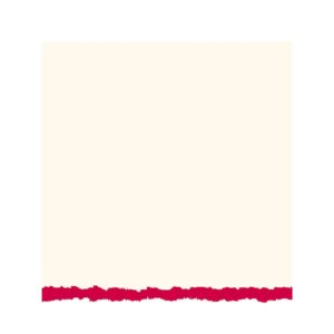 Strathmore Creative Greeting Cards - White/Red Deckle Pack of 20 5 x 7 in
